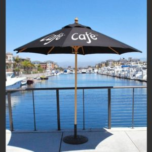 Umbrella with Wood Pole System, Square